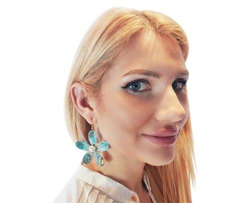 Μεγάλα εντυπωσιακά σκουλαρίκια κρεμαστά με πέρλες – 3005
