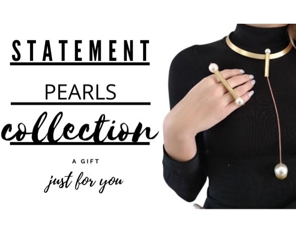 statement pearl jewelry by Aikaterini Chalkiadaki
